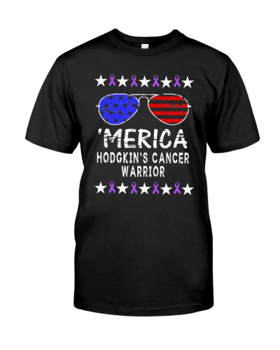 limited time-Merica Hodgkins cancer warrior Shirts