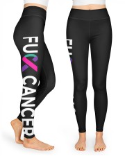 Thyroid cancer f-ck cancer for thyroid survivors High Waist Leggings front