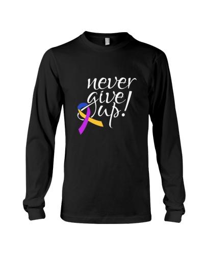 Niver give up--bladder cancer shirt