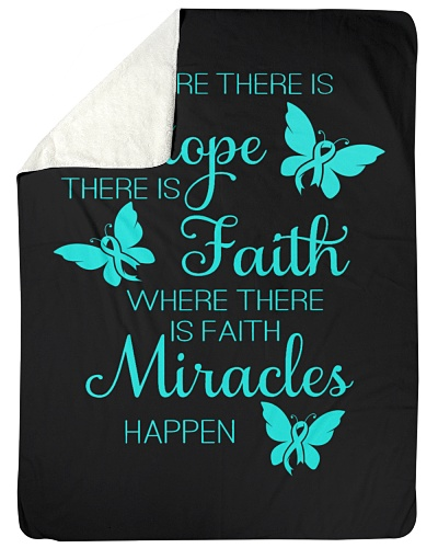 LIMITED TIME-Teal ribbon hope fight miracle