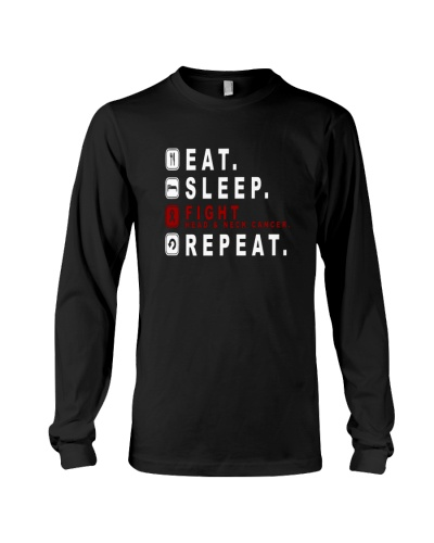 Eat sleep fight head and neck cancer repeat shirt