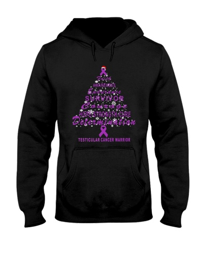testicular cancer Christmas tree shirt