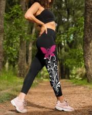 Pink breast cancer hope leggings warrior survivors High Waist Leggings aos-high-waist-leggings-lifestyle-20