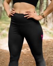 Pink breast cancer hope leggings warrior survivors High Waist Leggings aos-high-waist-leggings-lifestyle-22