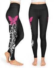 Pink breast cancer hope leggings warrior survivors High Waist Leggings front