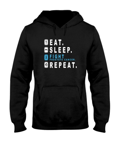 Eat sleep fight prostate cancer REPEAT shirt