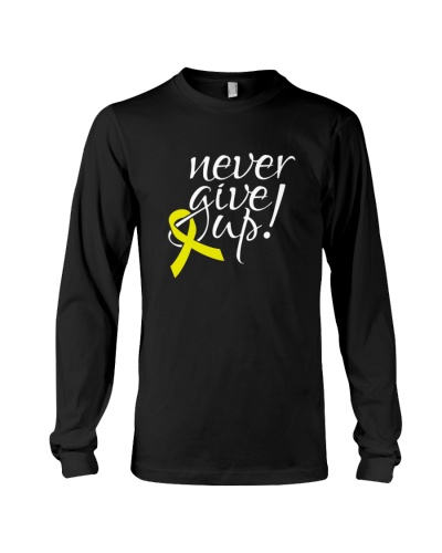 Giving up is not option-yellow ribbon cancer shirt