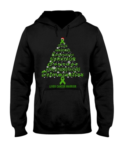liver cancer Christmas tree t shirt