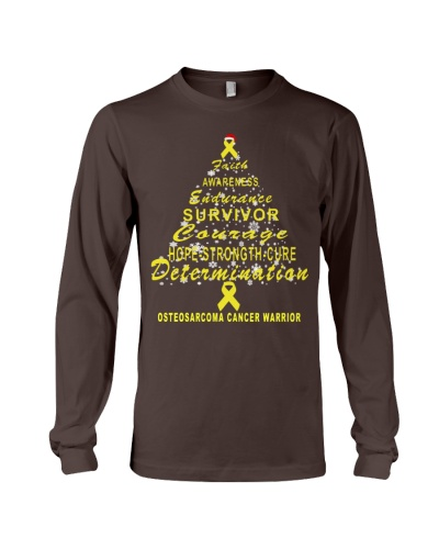 osteosarcoma cancer Christmas tree t shirt