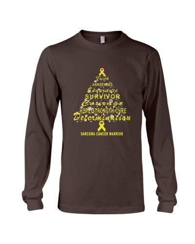 sarcoma cancer Christmas tree t shirt