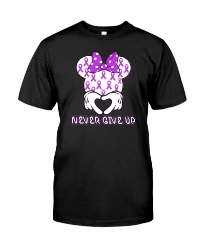 limited time-Purple Ribbon never give up shirt