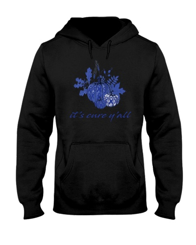 it's cure y'all blue ribbon cancer t-shirt