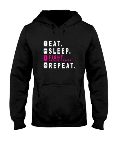 Eat sleep fight breast cancer REPEAT shirt