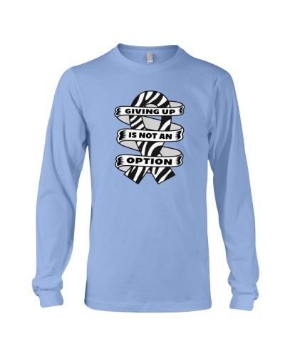 Giving up is not option-zebra cancer t shirt
