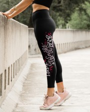 Pink Breast cancer Hope love leggings warriors High Waist Leggings aos-high-waist-leggings-lifestyle-23