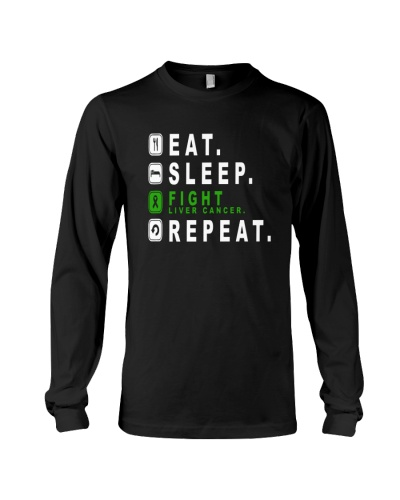 Eat sleep fight liver cancer repeat shirt