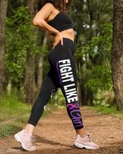 Thyroid cancer fight like a girl thyroid warriors High Waist Leggings aos-high-waist-leggings-lifestyle-20