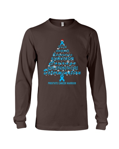 prostate cancer Christmas tree t shirt