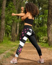 Breast cancer shirts cure for pink ribbon warriors High Waist Leggings aos-high-waist-leggings-lifestyle-19