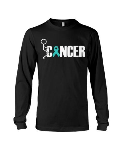 Limited edition-fuck teal ribbon cancer shirt