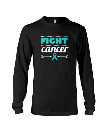 teal ribbon cancer fight shirt