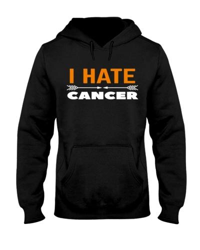 i hate cancer -orange ribbon cancer shirt