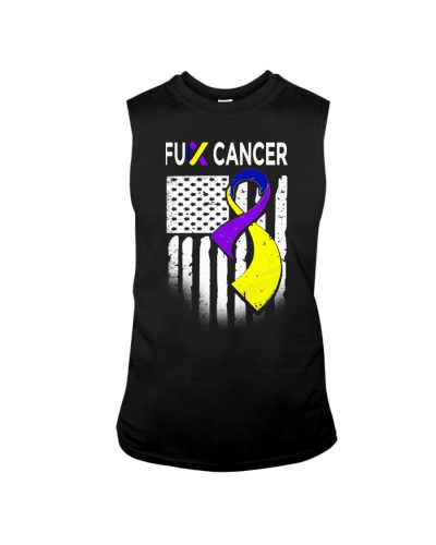 fuck bladder cancer us flag leggings- tees