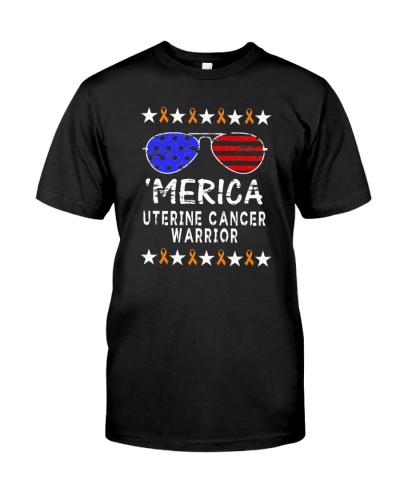 limited time-Merica uterine cancer survivor Shirt