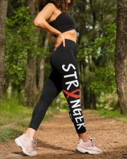 Throat cancer stranger oral head and neck cancer High Waist Leggings aos-high-waist-leggings-lifestyle-20