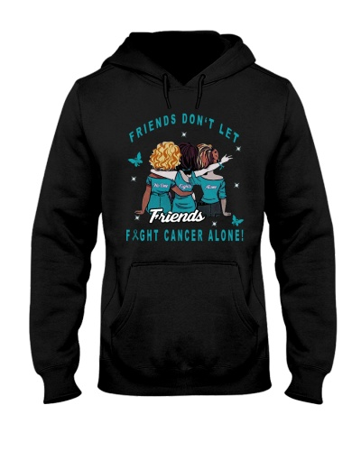LIMITED EDITION-teal ribbon cancer friends shirt