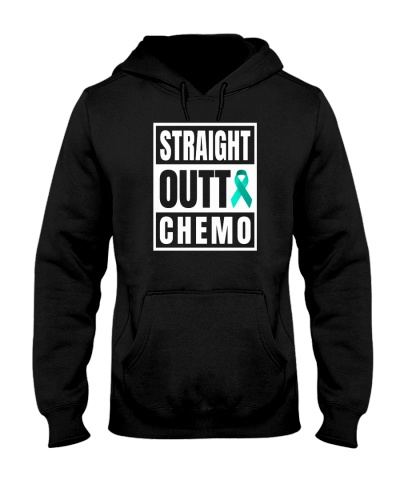 limited time-Teal Cancer Straight Outta Chemo tee