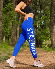 zebra ribbon stranger than you think shirts High Waist Leggings aos-high-waist-leggings-lifestyle-20