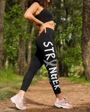 Brain cancer stranger gray ribbon warrior survivor High Waist Leggings aos-high-waist-leggings-lifestyle-20