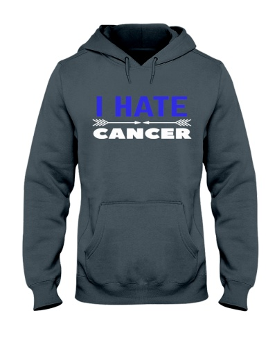 i hate cancer -colon colorectal cancer shirt