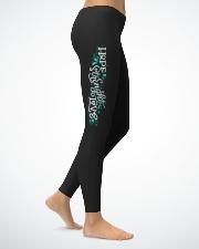 hope strenght love teal cancer leggings Ladies Leggings lifestyle-leggings-right-1