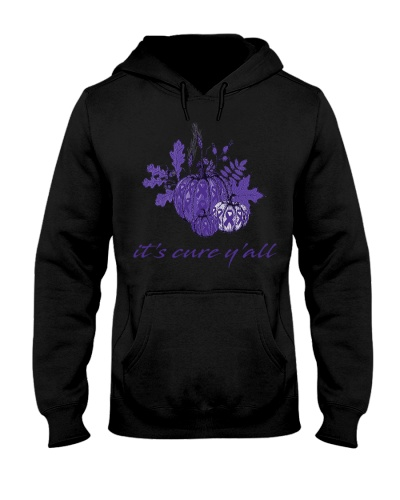 it's cure y'all purple ribbon cancer t-shirt