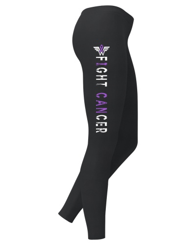 Fight purple ribbon cancer leggings
