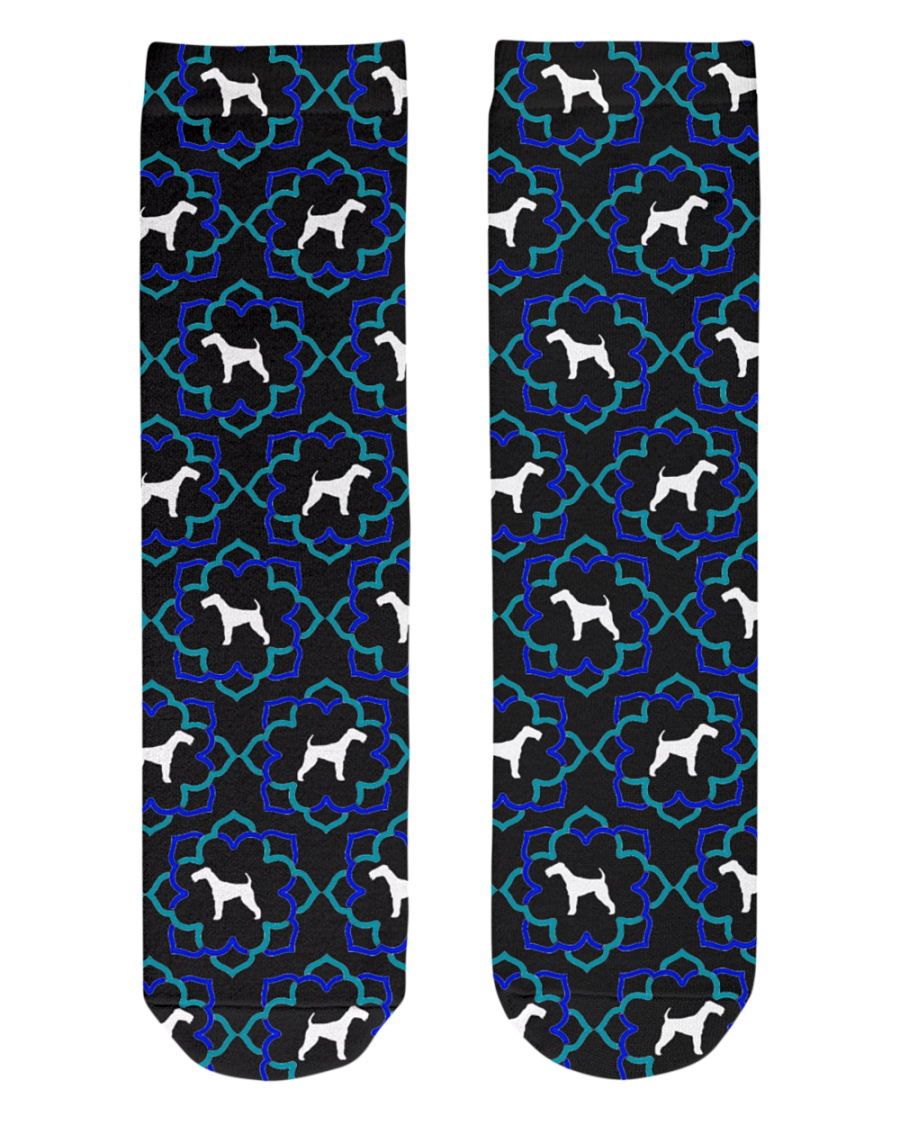 AIREDALE TERRIER LOVERS Crew Length Socks