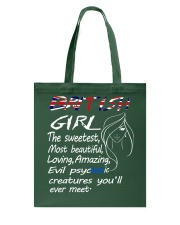 British Girl Tote Bag thumbnail