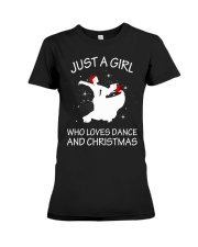 Love Dance and Christmas Premium Fit Ladies Tee thumbnail