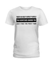 FUNNYDESIGN FOR DISPATCHERS Ladies T-Shirt thumbnail