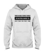 FUNNYDESIGN FOR WAITRESSES Hooded Sweatshirt thumbnail