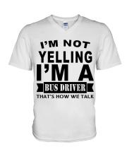 I AM NOT YELLING V-Neck T-Shirt thumbnail