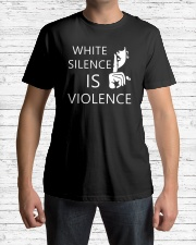 White silence is violence Premium Fit Mens Tee lifestyle-mens-crewneck-front-1