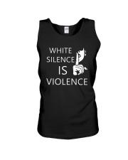 White silence is violence Unisex Tank thumbnail