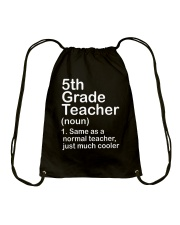 nganld 5thgrade - NOUN TEACHER T-SHIRT  Drawstring Bag thumbnail