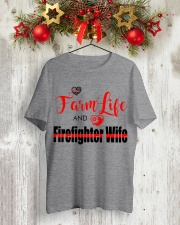Farm  LIFE AND Firefighter WIFE Classic T-Shirt lifestyle-holiday-crewneck-front-2