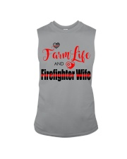 Farm  LIFE AND Firefighter WIFE Sleeveless Tee thumbnail