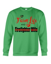 Farm  LIFE AND Firefighter WIFE Crewneck Sweatshirt thumbnail