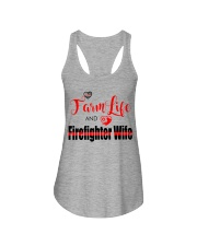 Farm  LIFE AND Firefighter WIFE Ladies Flowy Tank thumbnail